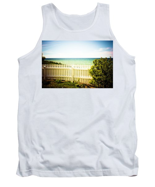 Tank Top featuring the photograph Seaside Retreat by Sara Frank