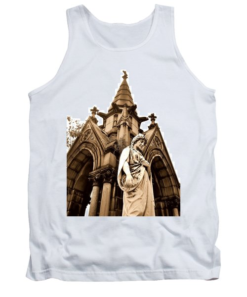 Sepia - Forrest Lawn Cemetery - Buffalo New York Tank Top