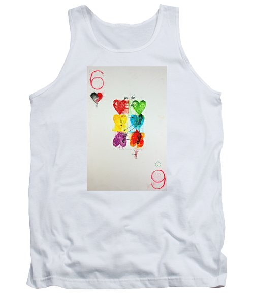 Tank Top featuring the painting Six Of Hearts 2-52  2nd Series  by Cliff Spohn