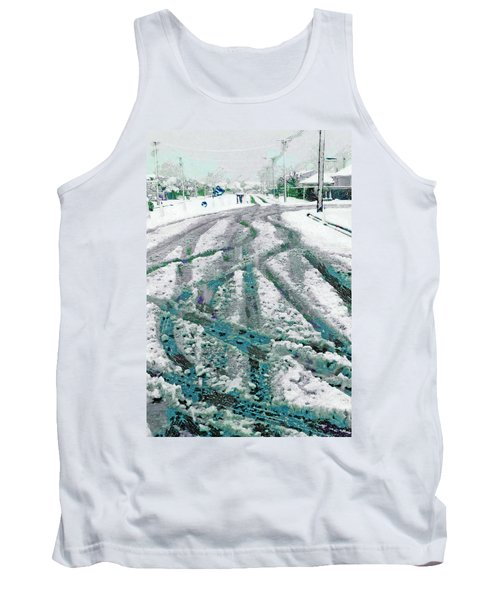 Tank Top featuring the photograph Slipping And Sliding  by Steve Taylor