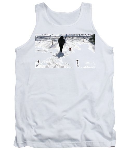 Tank Top featuring the photograph Snow Buddies by Pamela Hyde Wilson