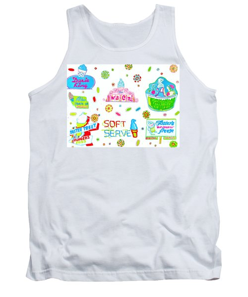 Tank Top featuring the painting Soft Serve by Beth Saffer