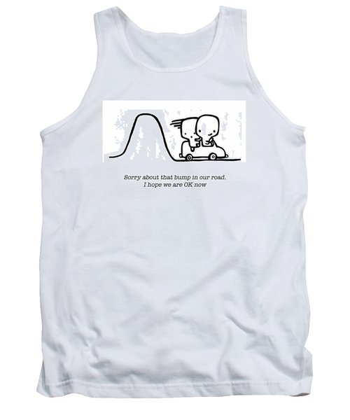 Tank Top featuring the drawing Sorry by Leanne Wilkes