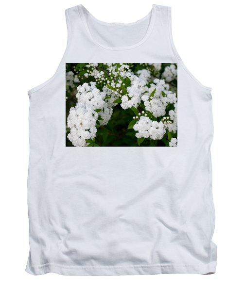 Tank Top featuring the photograph Spirea Blooms by Maria Urso