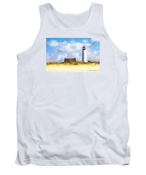 St. George Island Lighthouse Tank Top by Rhonda Strickland