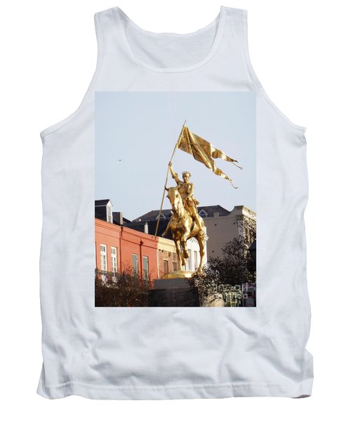 Tank Top featuring the photograph St. Joan At Dawn by Alys Caviness-Gober