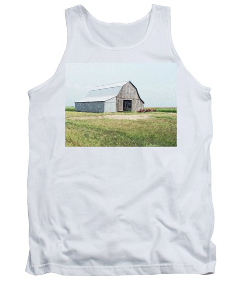 Tank Top featuring the digital art Summer Barn by Debbie Portwood