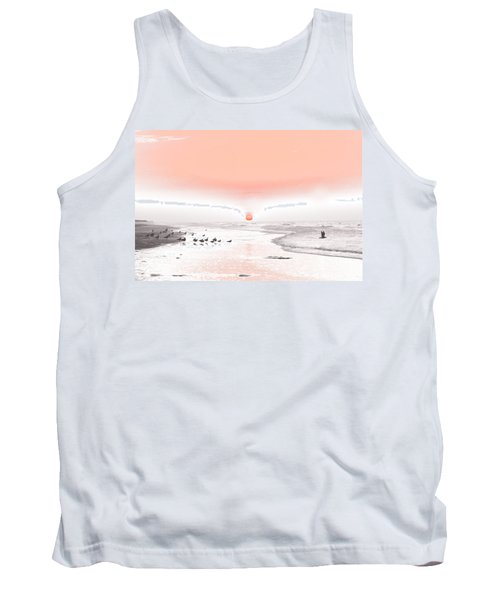 Pastel Sunrise Beach Tank Top