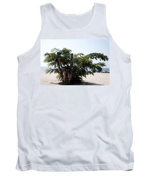 The Birdhouse Tree On The Beach Tank Top