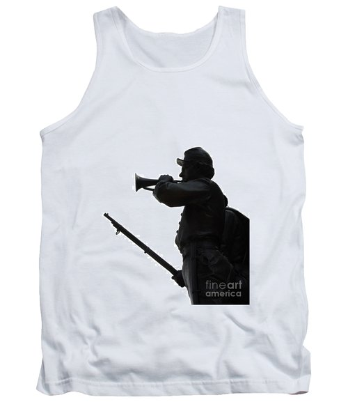 Tank Top featuring the photograph The Bugler by Cindy Manero