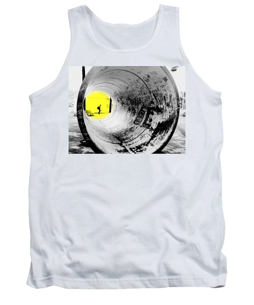 The Light At The End Of The Tunnel Tank Top by Valentino Visentini