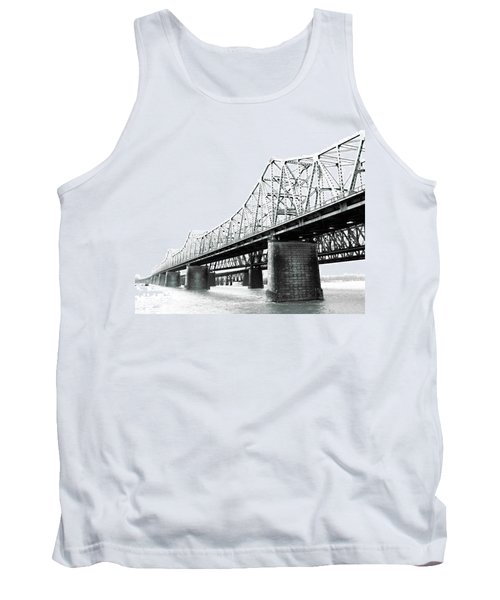 Tank Top featuring the photograph The Old Bridges At Memphis by Lizi Beard-Ward