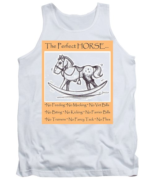 Tank Top featuring the drawing the Perfect Horse by George Pedro