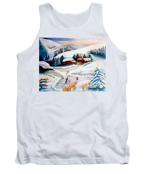 The Pond In Winter Tank Top