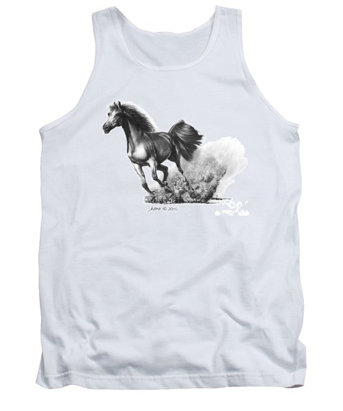 Tank Top featuring the drawing the Race is on  by Marianne NANA Betts