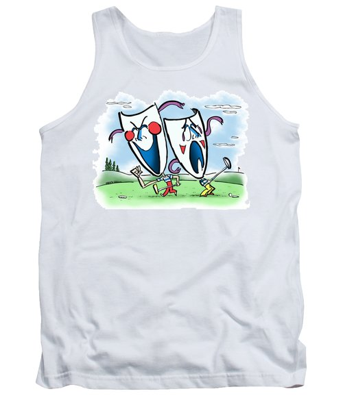 The Two Faces Of Golf Tank Top
