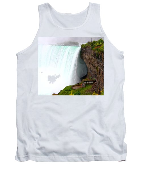 Tank Top featuring the photograph Thundering Force by Davandra Cribbie