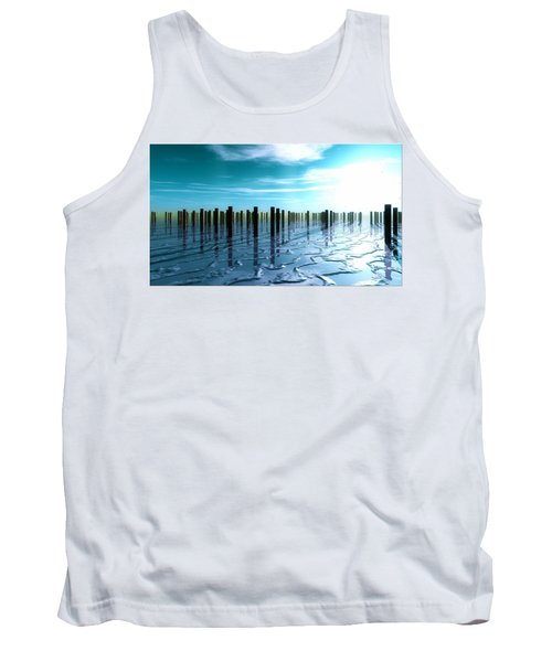 Tank Top featuring the digital art Tide Is Out... by Tim Fillingim