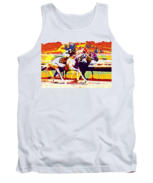 Tank Top featuring the photograph To The Finish by Alice Gipson