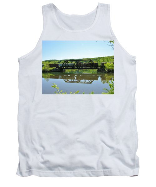 Tank Top featuring the photograph Train And Trestle by Sherman Perry