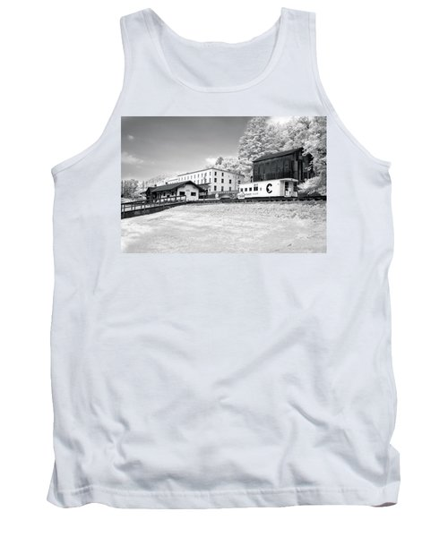 Tank Top featuring the photograph Train Depot by Mary Almond