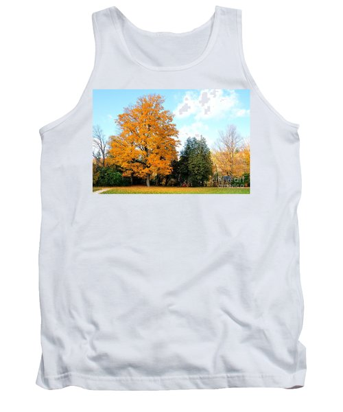 Tank Top featuring the photograph Tree Of Gold by Joe  Ng