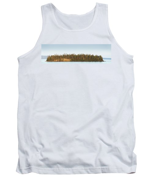 Trees Covering An Island On Lake Tank Top by Susan Dykstra
