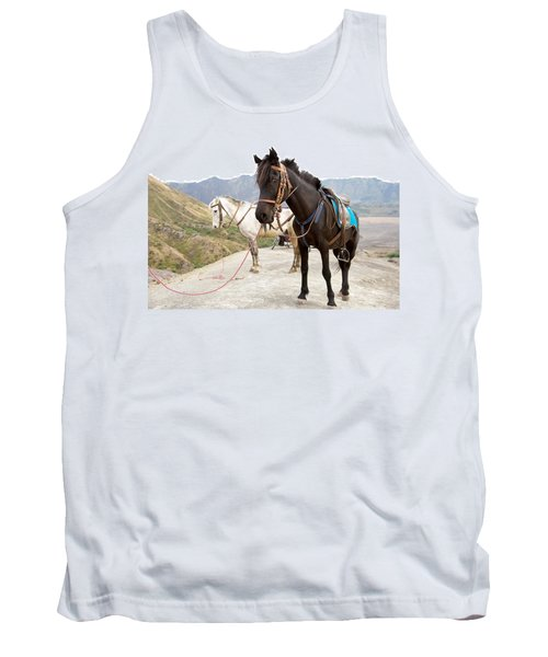 Tank Top featuring the photograph Two Horses by Yew Kwang