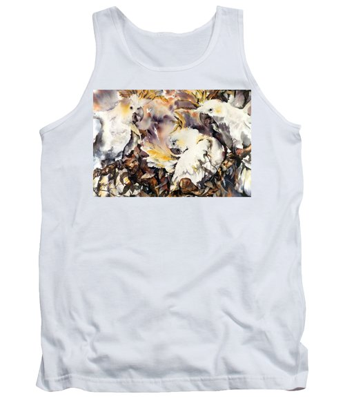 Tank Top featuring the painting Two's Company by Rae Andrews