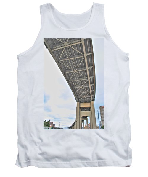 Tank Top featuring the photograph Under The Skyway by Michael Frank Jr