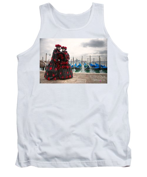Tank Top featuring the photograph Venice Carnival Mask by Luciano Mortula