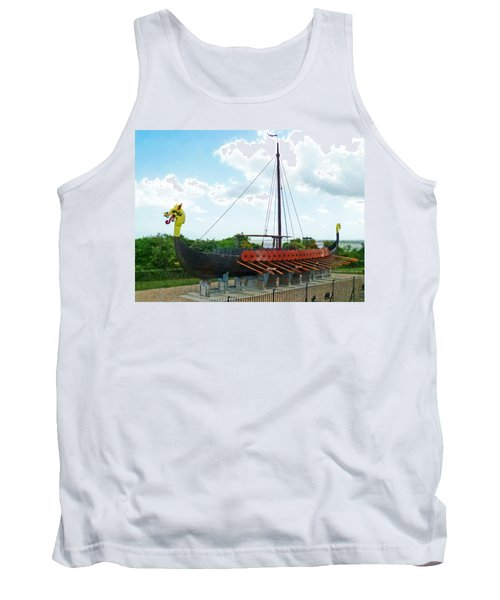 Tank Top featuring the photograph Viking Bay In Broadstairs In England by Steve Taylor