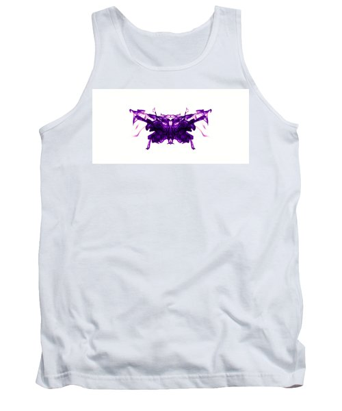 Violet Abstract Butterfly Tank Top