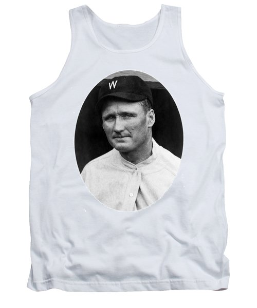 Tank Top featuring the photograph Walter Johnson - Washington Senators Baseball Player by International  Images