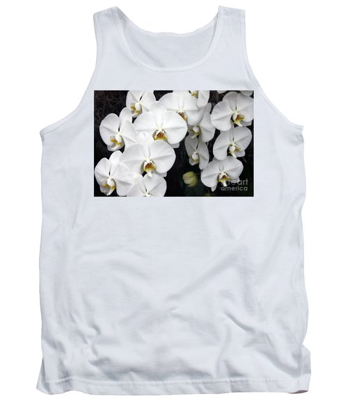 Tank Top featuring the photograph White Orchids by Debbie Hart