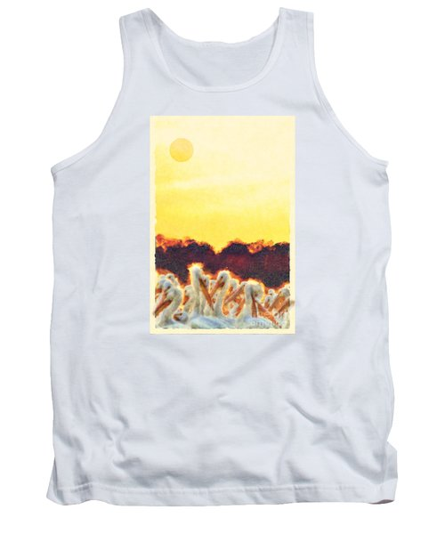 Tank Top featuring the photograph White Pelicans In Sun by Dan Friend