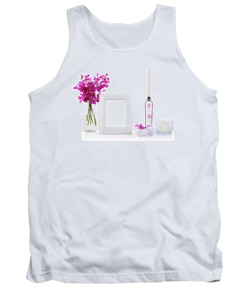White Picture Frame In Decoration Tank Top by Atiketta Sangasaeng