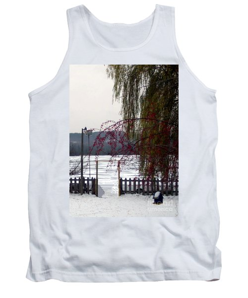 Willows And Berries In Winter Tank Top by Desiree Paquette