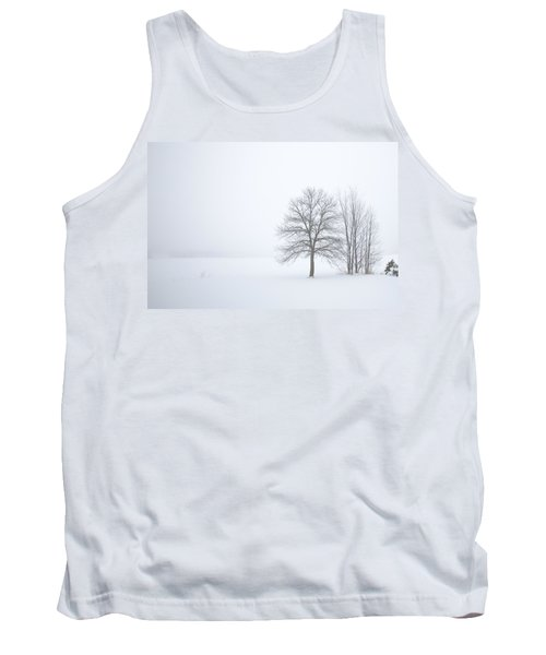 Winter Fog And Trees Tank Top