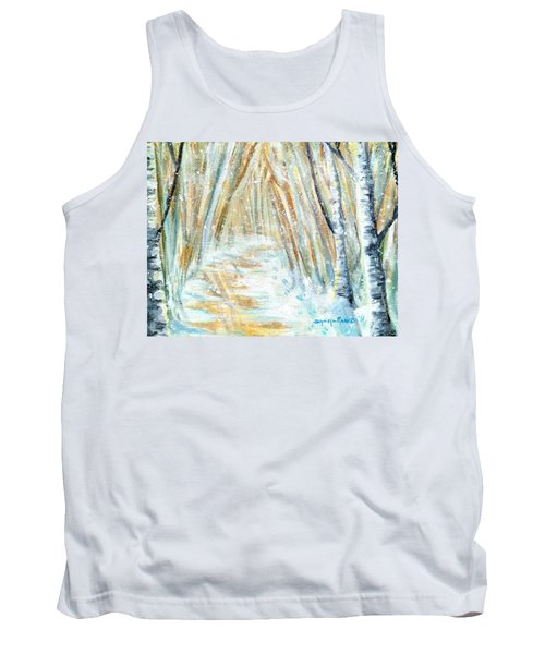 Tank Top featuring the painting Winter by Shana Rowe Jackson