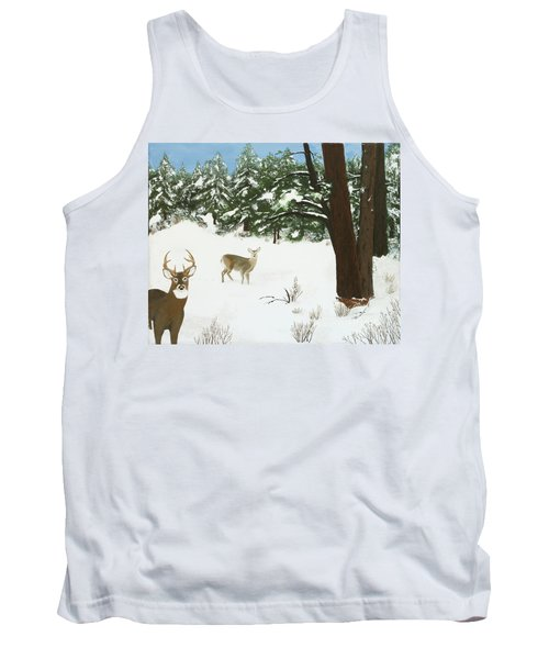 Wintering Whitetails Tank Top