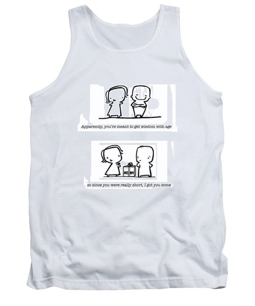 Tank Top featuring the drawing Wisdom by Leanne Wilkes