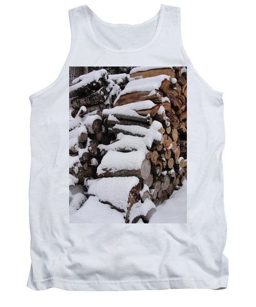 Tank Top featuring the photograph Wood Pile by Tiffany Erdman