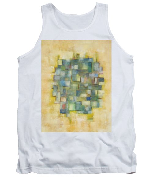 Yellow With Green  Tank Top by Patricia Cleasby
