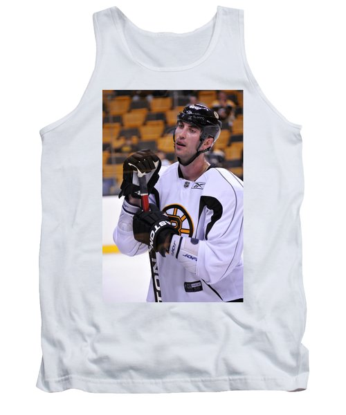 Tank Top featuring the photograph Zdeno Chara Takes A Break by Mike Martin