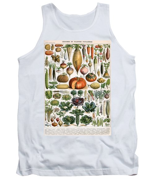 Illustration Of Vegetable Varieties Tank Top by Alillot