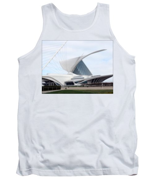 Tank Top featuring the photograph  Milwaukee Art Museum by Kay Novy