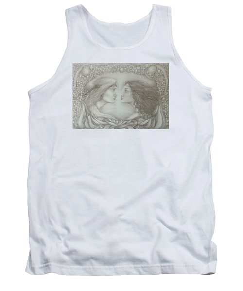 Spring Lovers With Snowdrops Tank Top