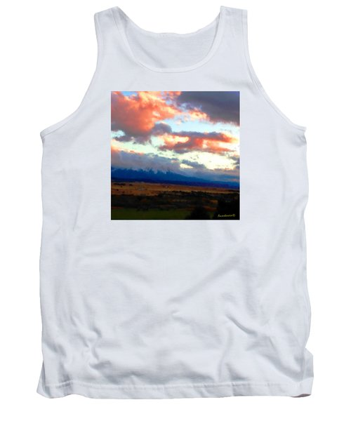 Sunset Clouds Over Spanish Peaks Tank Top