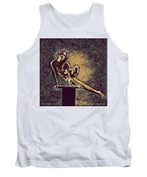 0953s-zac Casual Balance Black Dancer Graceful Strong In The Style Of Antonio Bravo Tank Top